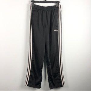 Adidas black tear away track pants sweatpants